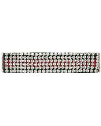 Gucci - Web Headband With Crystals - Lyst