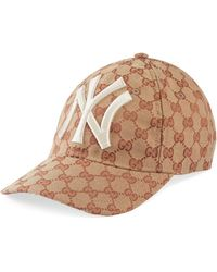 Gucci - Baseball Hat With Ny Yankeestm Patch - Lyst bd659ebf2f6