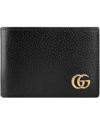 49bb20f7d4ac Gucci Gg Marmont Leather Card Case in Black for Men - Lyst