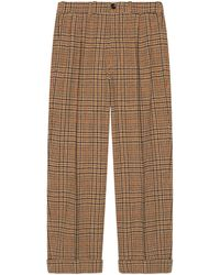 Gucci - 70s Prince Of Wales Wool Pant - Lyst
