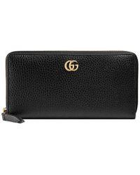 Gucci | Leather Zip Around Wallet | Lyst