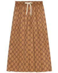 Gucci - GG Technical Jersey Skirt - Lyst