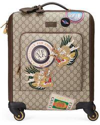 Gucci - Valise cabine en toile suprême GG avec motifs Courrier - Lyst