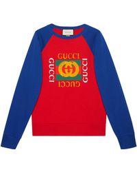 Gucci - Felpa oversize con logo - Lyst