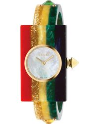 Gucci - Plexiglas Watch With Rainbow, 24x40mm - Lyst