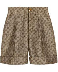 Gucci - Shorts in lana GG - Lyst