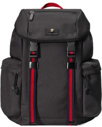 9bb46dacd08 Lyst - Gucci Mesh Techpack With Embroidery in Black for Men