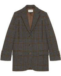 Gucci - Prince Of Wales Cape Jacket - Lyst