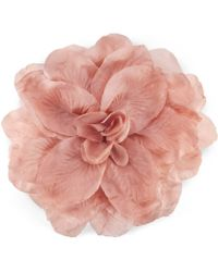 Gucci - Flower Brooch In Silk And Cotton - Lyst
