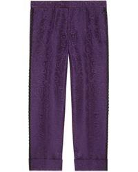 Gucci - Pantalón de Sastrería con Jacquard de Brocado - Lyst