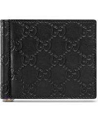 Gucci - Signature Money Clip Wallet - Lyst