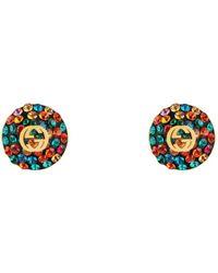 Gucci - Crystals Interlocking G Earrings - Lyst