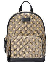 5202728cf7c7 Lyst - Sac à dos à imprimé abeilles Suprême GG Gucci en coloris Noir