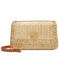 Gucci - Wicker Small Shoulder Bag - Lyst