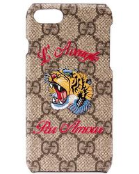 Gucci - Iphone 7 Case With Tiger - Lyst