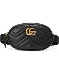 Gucci - GG Marmont Gürteltasche aus Matelassé-Leder - Lyst
