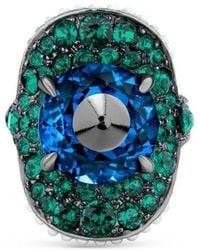 Gucci | Ring With Stud And Crystals | Lyst