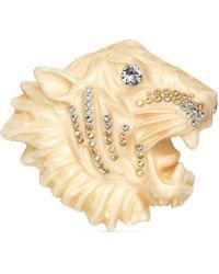 Gucci - Resin Tiger Head Brooch - Lyst