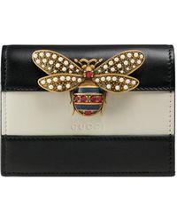 Gucci - Porte-cartes en cuir Queen Margaret - Lyst
