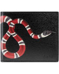 Gucci - Kingsnake Print Leather Wallet - Lyst