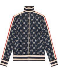 6c982c99fab9 Gucci - GG Jacquard Cotton Jacket - Lyst