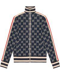 6b2708e10 Gucci - Chaqueta de Algodón de Jacquard GG - Lyst
