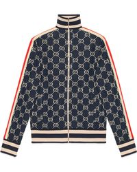 Gucci - Jacke aus Baumwolle mit GG Jacquard - Lyst