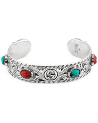 Gucci - Garden Cuff Bracelet - Lyst