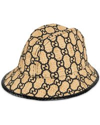 c5eb122ff4703 Gucci GG Fedora Hat With Snakeskin in Brown for Men - Lyst