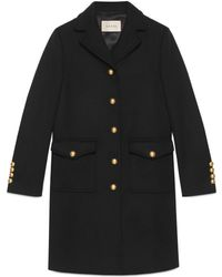 Gucci - Wool Coat With Double G - Lyst