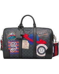 Gucci - Night Courrier Reisetasche aus weichem GG Supreme - Lyst