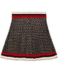 Gucci - Lurex Blend Skirt With Web - Lyst