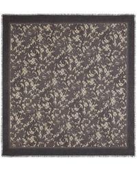 Gucci - Arabesque Print Modal Silk Shawl - Lyst