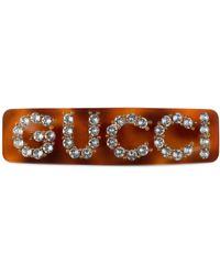 Gucci - Crystal Single Hair Barrette - Lyst
