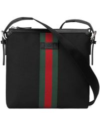 Gucci - Web Techno Canvas Small Messenger Bag - Lyst