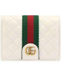 Gucci - Leather Card Case With Double G - Lyst