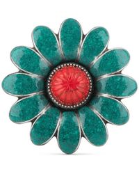 Gucci - Enameled Flower Ring - Lyst
