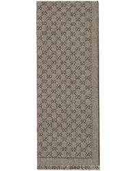Gucci - Bufanda de lana de jacquard con GG - Lyst
