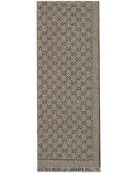 Gucci - Écharpe en jacquard de laine GG - Lyst