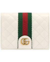 Gucci - Kartenetui aus Leder mit Doppel G - Lyst