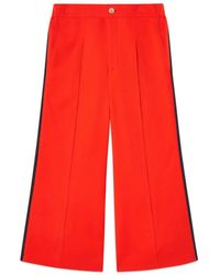 Gucci - Viscose Culotte Pant With Web - Lyst
