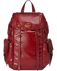7316e6098f6e Gucci Leather Backpack in Red for Men - Lyst