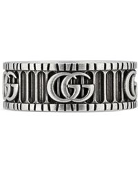 Gucci - 8mm Gg Logo Ring - Lyst