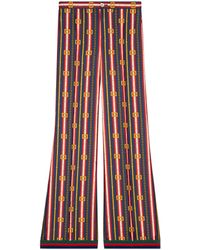 Gucci - Square Gg Belts Silk Pajama Pant - Lyst
