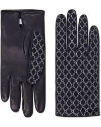 Gucci - Handschuhe aus Leder mit Square G - Lyst