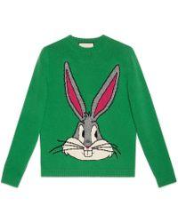 Gucci | Bugs Bunny Wool Knit Jumper | Lyst