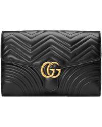 Gucci - Pochette GG Marmont - Lyst