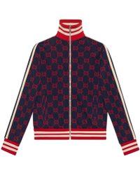 Gucci - Felpa in cotone GG jacquard - Lyst
