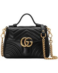 76c6251123d Gucci - GG Marmont Mini Top Handle Bag - Lyst