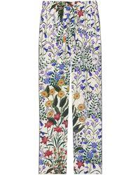 Gucci - Pantalon de pyjama en soie à imprimé nouveau flora - Lyst